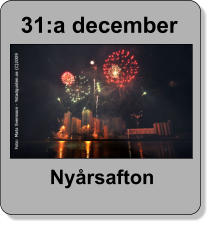 31:a december  Nyårsafton